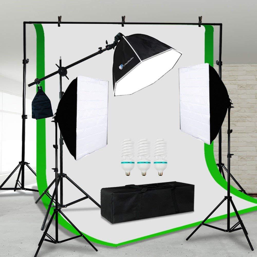 with SBL-2436 Softbox Light Light Stand Smith-Victor KSB-500 Economy Softbox One Light Kit /& 500W Photoflood Lamp 120V AC