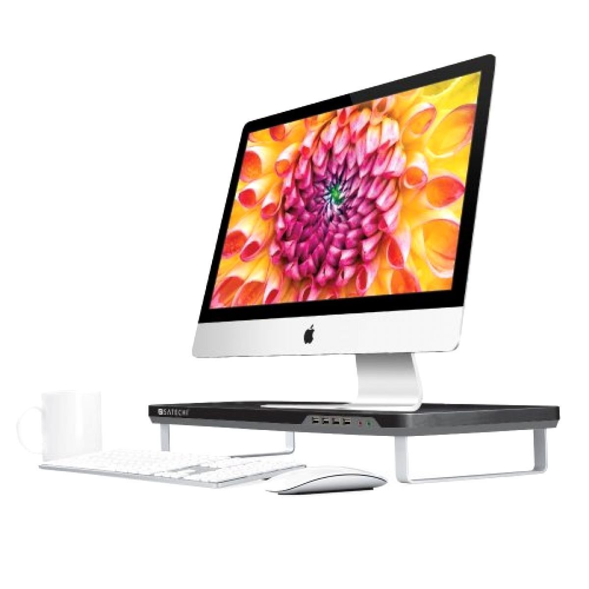 Computer iMac Laptop Pad Desktop Workspace Monitor Riser Adjustable Stand