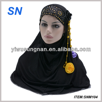 fashion hijab head scarf with jewelry