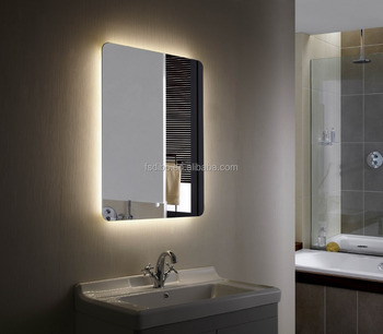 Led Backlit Bathroom Mirror Illuminated With