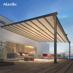 Unique Design Side Awning Folding Retractable Shade For Swimming Pool