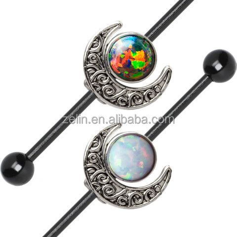 Titanium Anodized Fake Industrial Barbell body piercing jewelry