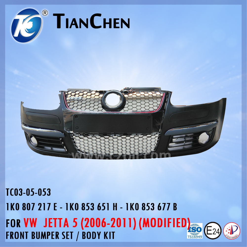 FRONT BUMPER BODY KIT for JETTA 5 SAGITAR 2005-2009 MODIFIED 1K0 807 217 E - 1K0 853 651 H - 1K0 853 677 B - 1K0807217E