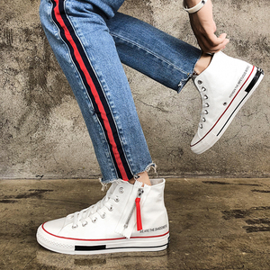 New Arrival Retro Style Casual High Top Vulcanization Sneakers Canvas Men Sport Injection Shoes