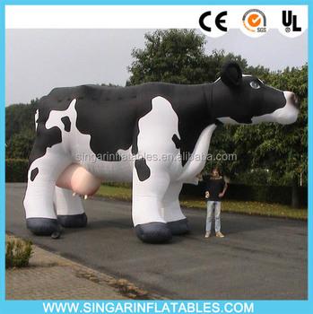 Gonflable Décoration De Jardin Vache Géante En Plastique Vache Pour ...