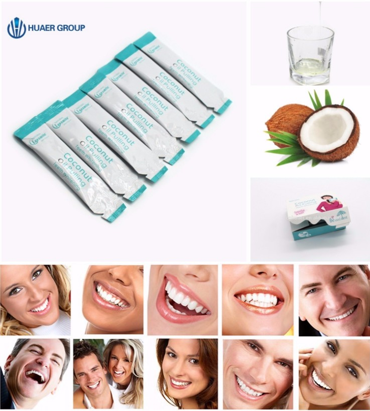 Mint Flavouring Teeth Whitening Coconut oil Pulling