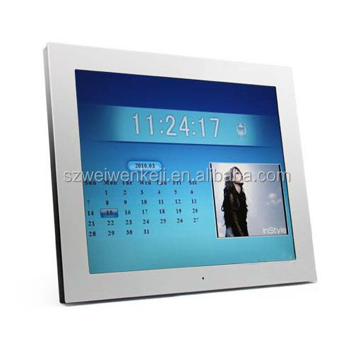 Lcd Small Screen Electronic Desk Calendar Acrylic Audio