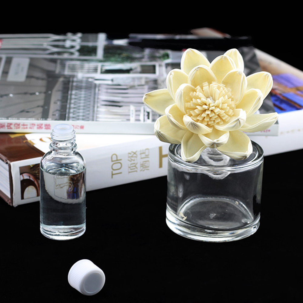 stylish wood flowers use essential oil diffuser for home fragrance