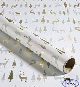 metallic white elegant christmas wrapping paper for gift wrapping - Elegant Christmas Wrapping Paper
