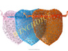 Custom shape heart shape nylon mesh candy bag/chrismas gifts bag/organza bracelet bag