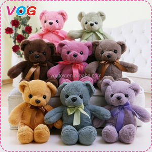 High quality custom colorful teddy bear stuffed wholesale plush toy bear for for crane machines