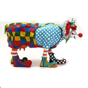 Art Collection Funny Clown Creative Modern Sculpture Interior Decoration Resin Art and Craft Ornament