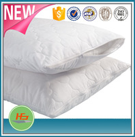 Zip pillow protector/Zipped quilted pillow protector,/zipper quilted pillow case