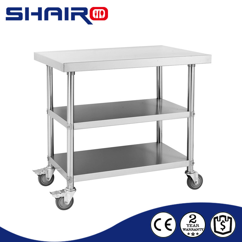 Kitchen Work Table On Wheels