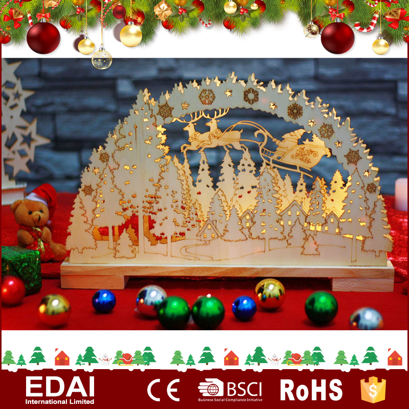 Hot sale Christmas bridge silhouette light Christmas decoration led light reindeer
