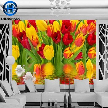 Flower Pattern Real 3d Wallpaper For Kitchen Walls Decor Home Wall