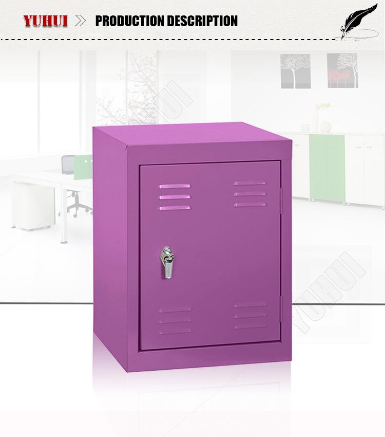Metal Steel Purple Storage Cabinet / Locker With Free Combination ...