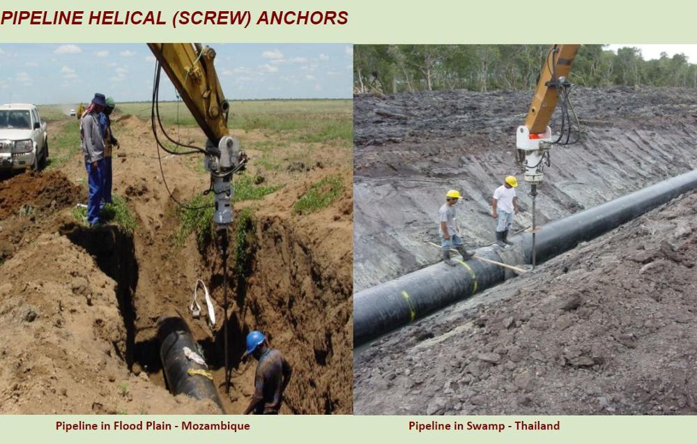 Pipeline Helical Screw Anchor System