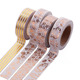 Custom Printed Colorful Gold Foil Stationery Label Washi Masking Tape For Decoration