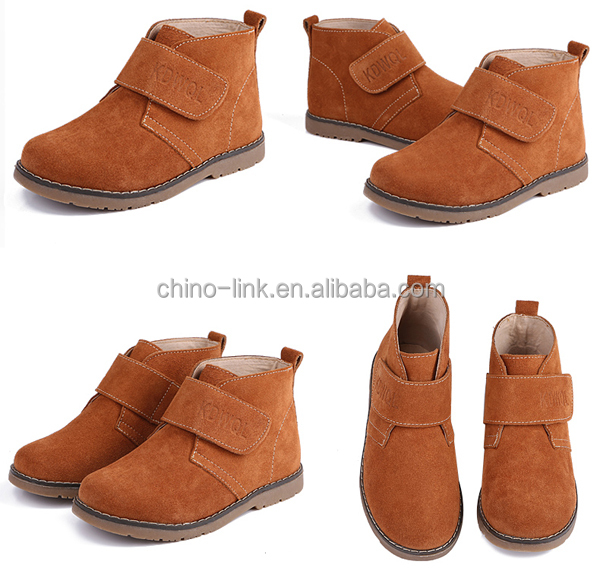 Best suede leather upper in bulk outdoor kids ankle boots shoes