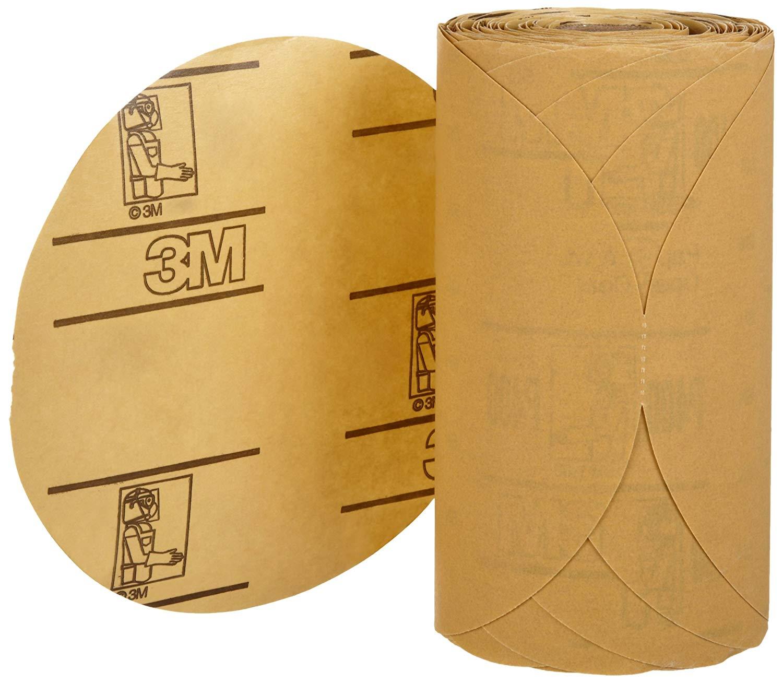 3M Stikit Gold Paper Disc Roll 216U, 6 in x NH Die# 600Z P400 A weight, 175 discs per roll [PRICE is per ROLL]