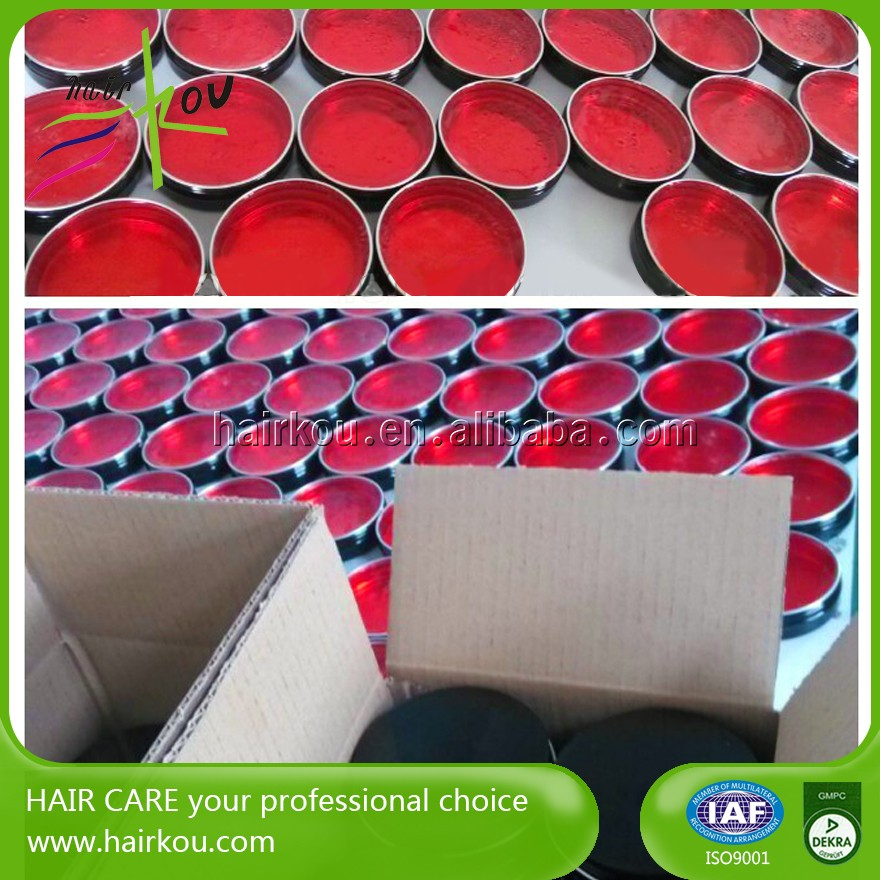 manufacture hard texture pomade production hair wax red one for short hair styles