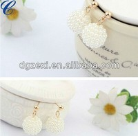 Good quality imitation jewelry diamond dangler earrings
