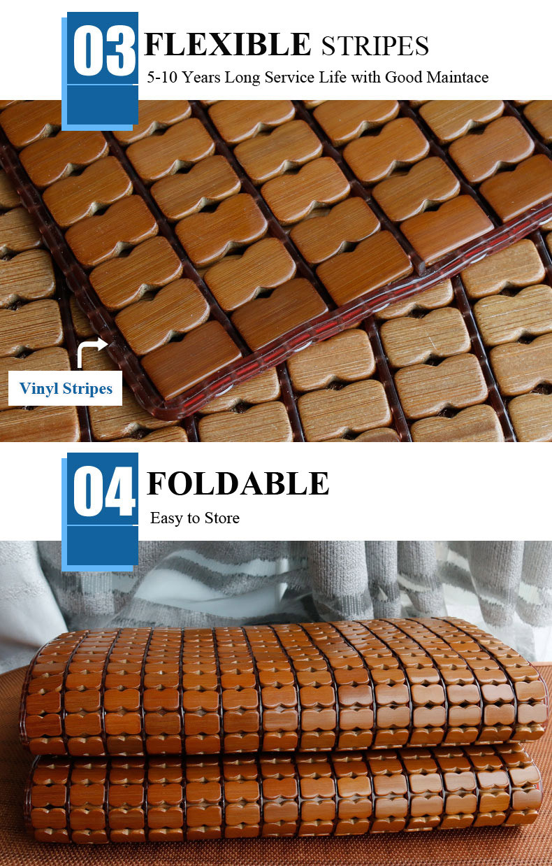 Corea traspirante removibile di bambù di estate fresco di sonno letto mat foglio