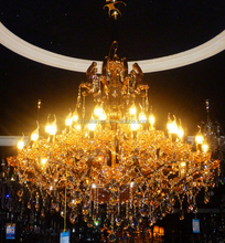 classical indoor fancy crystal big size chandelier and pendant light with warm style with E27