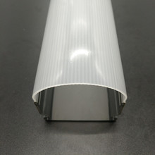Low price customized China supplier extrusion profile plastic led diffusor pc lampshade dust cover