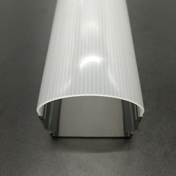 Low price customized extrusion profile plastic led diffusor pc lampshade dust cover