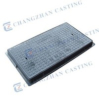 EN124 square frame square cover cast iron cover and frame