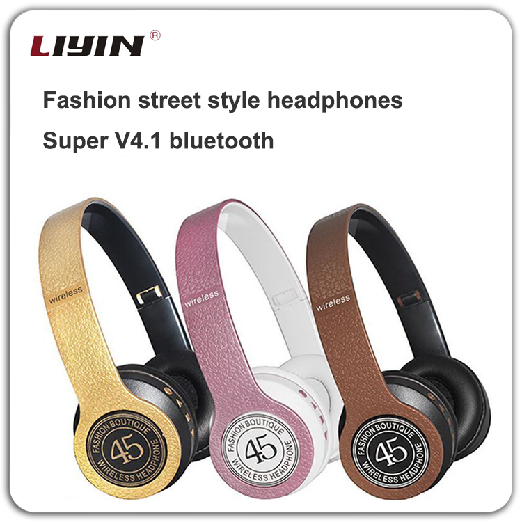 2017 Hot sale foldable bluetooth headphone, over ear wireless headsets, ear muff headphone bluetooth