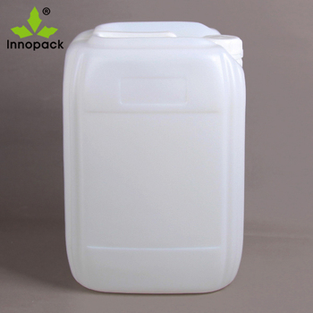 plastic white hdpe jerry can 5 liter with screw cap