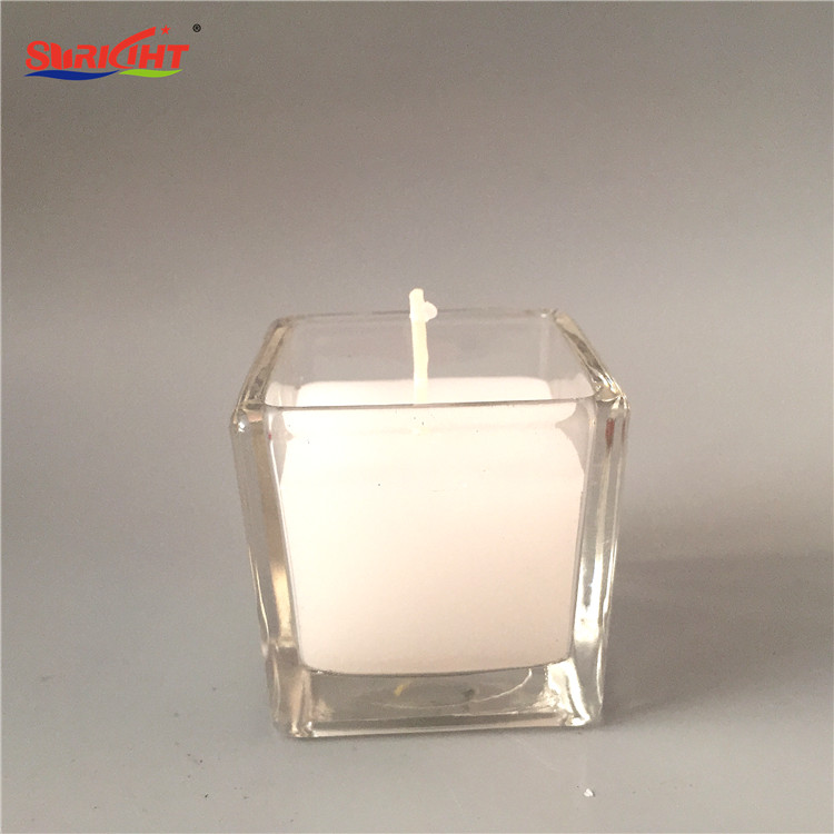 Multi Colored Custom Fashion Brand Promotional Decorative Logo Glass Jar Candles