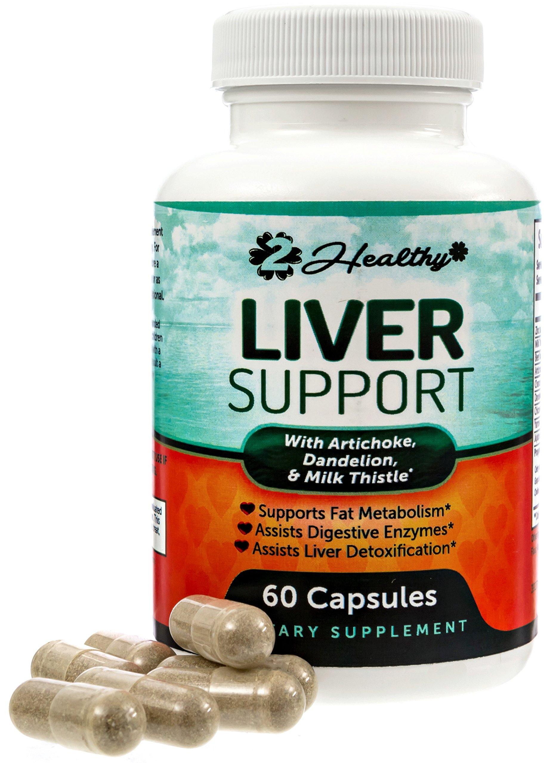 Liver Cleanse & Detox Support Supplement | Natural Detoxifier Blend with Milk Thistle + Turmeric + Ginger + Artichoke Extract + Beet Root + Zinc + Choline + Grape Seed + Celery Seed + Alfalfa
