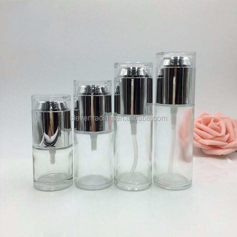 Custom glass lotion bottle cosmetic serum bottle buy for Custom cosmetic jars