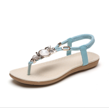 8770e48c906313 Latest Summer Rubber Flat Lady Sandals - Buy Summer Sandals