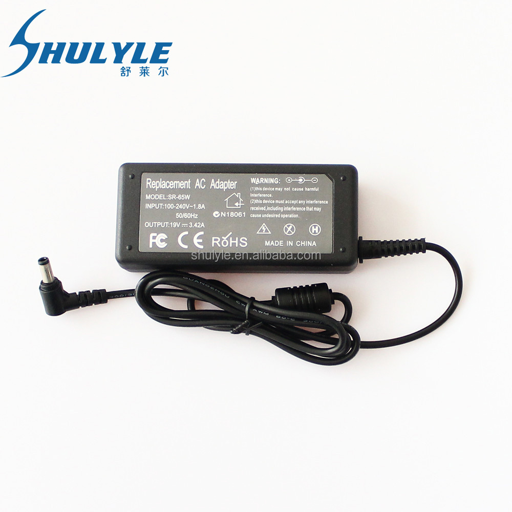 Factory/OEM/ODM Laptop charger for asus charger 19v 3.42a 5.5*2.5mm 65w