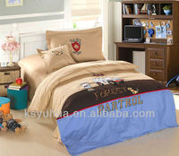 Child lovely high quality bed linen embroidery bedding set, kids bedding set