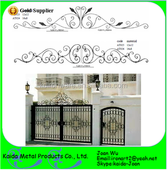 Fancy Wrought Iron Scroll Panels For Gate Tops