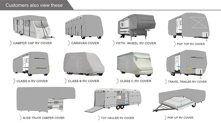 10 + jaar Fabriek Weerbestendige Tailored reizen trailer cover Caravan Cover