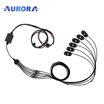 waterproof and high quality Aurora wireless control RGB rock light car interior led lights led truck light led bar