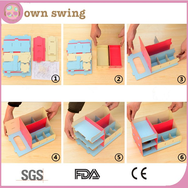 Preferenza Creativo Fai Da Te Desktop Legno Cosmetic Storage Box Con Cassetto  IM52