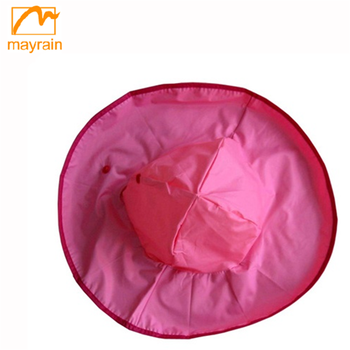 PVC covered waterproof rain hat for kids