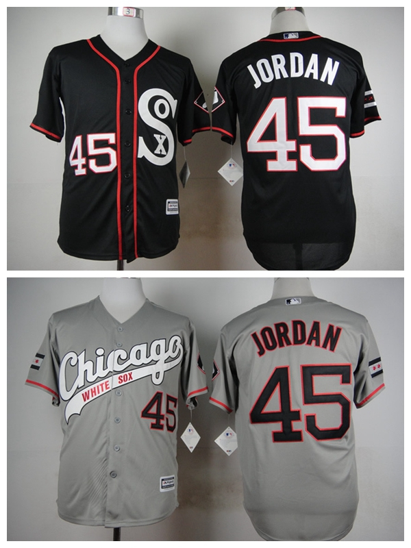 3cec78e7f77d ... chicago white sox mens jerseys 45 michael jordan black printing baseball  jersey 2015 a271f 1e20d  coupon code for popular jordan number 45 jersey  buy ...