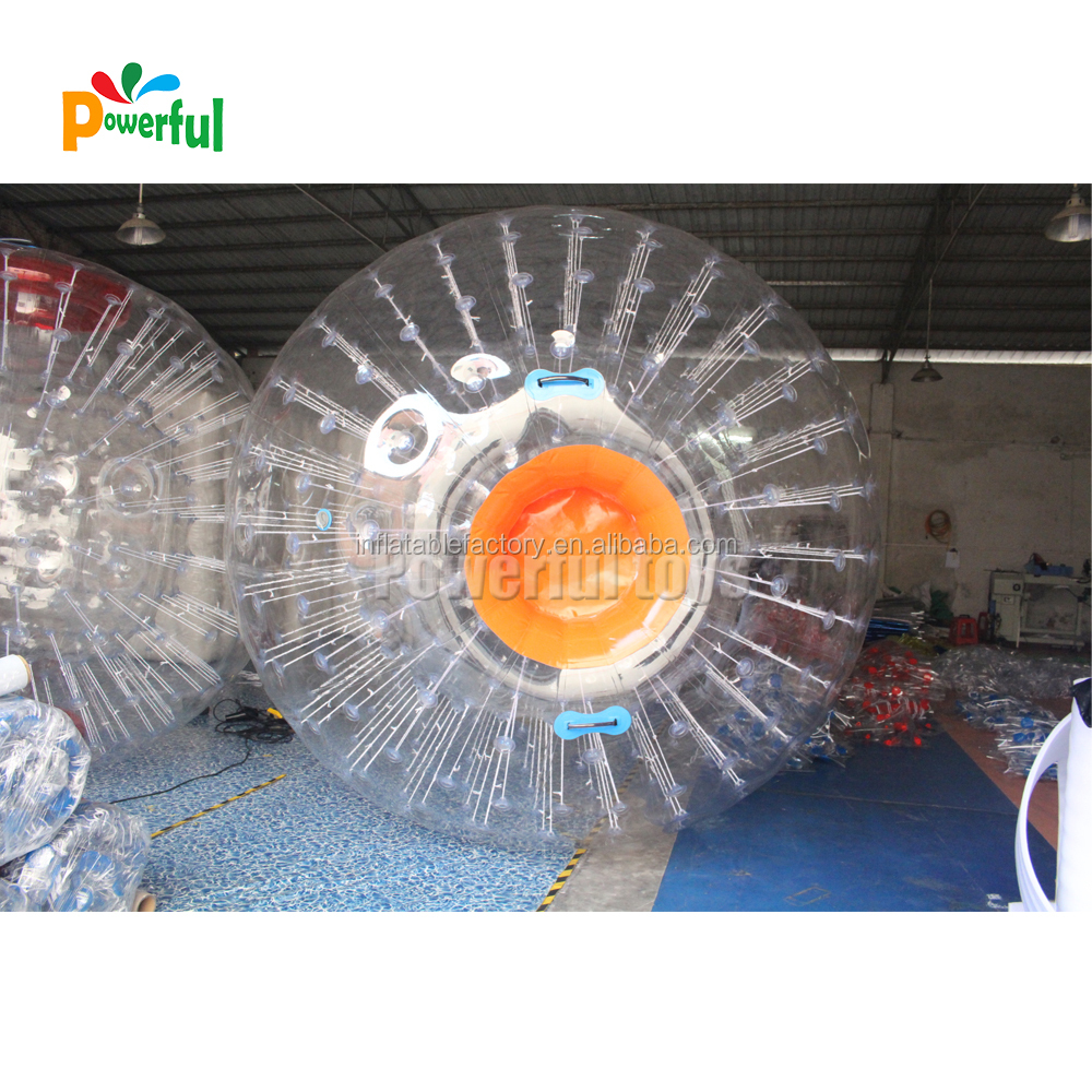 3m inflatable zorb ball,pvc zorb inflatable land zorbing grass ball for adults