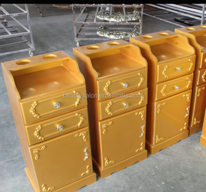Gold wooden salon trolley salon cabinet ZY-777
