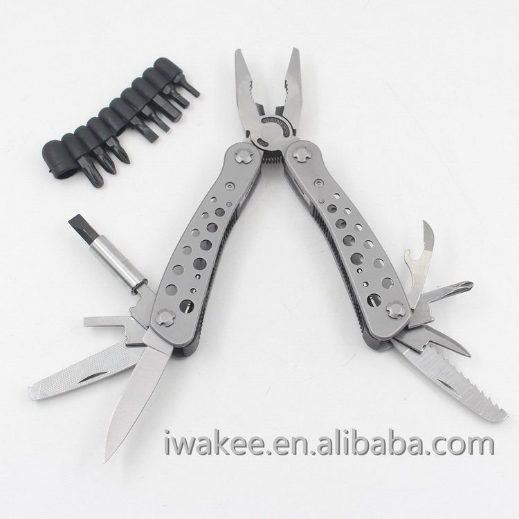 Full Stainless Steel Multitool, Multi Plier, Foldable Multi Hand Tool for Outdoor Camping EDC
