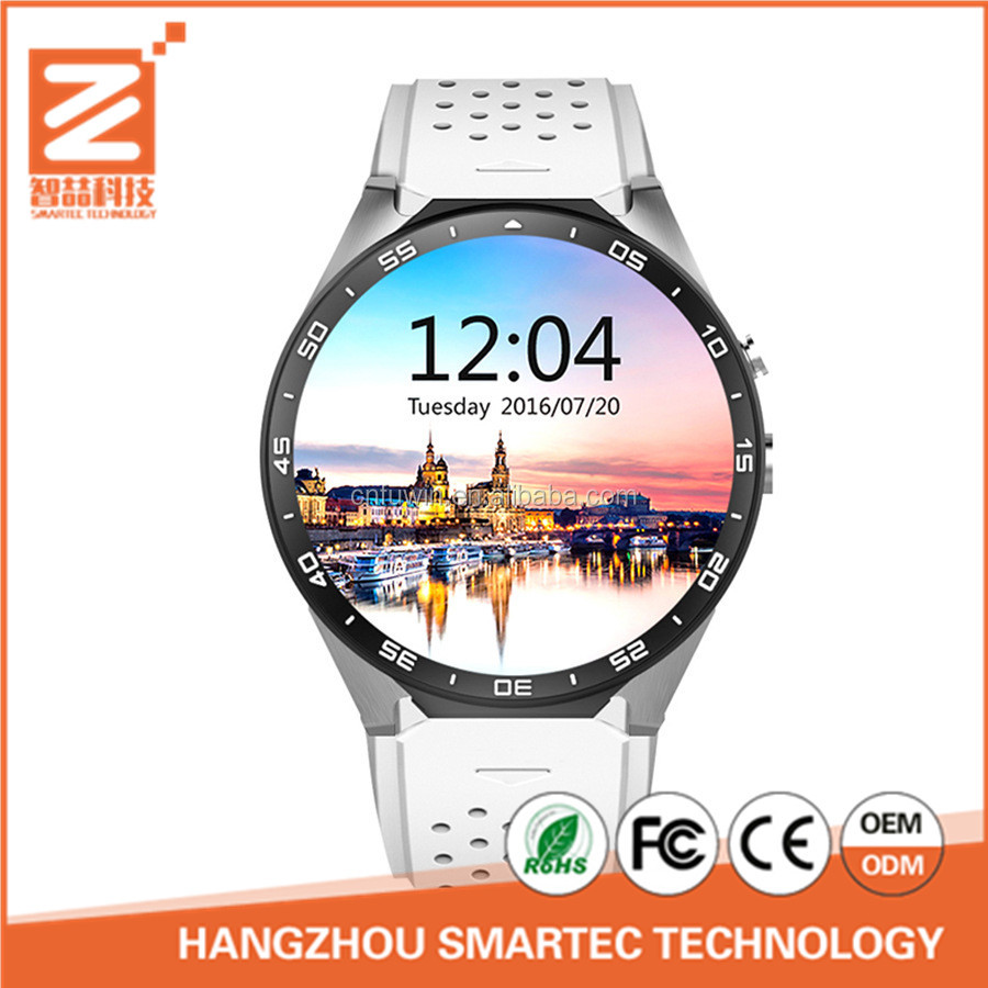 Touch Screen Wifi Bluetooth CE ROHS MSDS KW88 Geneva Smart Watch